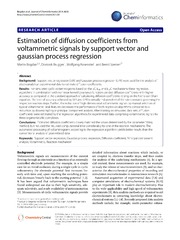 Vol 6: Estimation of diffusion coefficients from voltammetric signals by support vector and gaussian process regression.