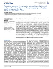 Vol 5: Revealing changes in molecular composition of plant cell walls on the micron-level by Raman mapping and vertex component analysis VCA.