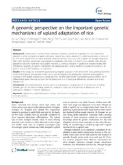 Vol 14: A genomic perspective on the important genetic mechanisms of upland adaptation of rice.