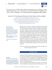 Vol 55: Concentration of Non-Steroidal Anti-Inflammatory Drugs in the Pelvic Floor Muscles: An Experimental Comparative Rat Model.