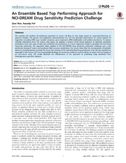 Vol 9: An Ensemble Based Top Performing Approach for NCI-DREAM Drug Sensitivity Prediction Challenge.