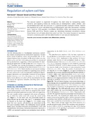 Vol 5: Regulation of xylem cell fate.