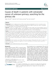 Vol 14: Causes of death in patients with extranodal cancer of unknown primary: searching for the primary site.