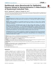 Vol 9: Ranibizumab versus Bevacizumab for Ophthalmic Diseases Related to Neovascularisation: A Meta-Analysis of Randomised Controlled Trials.