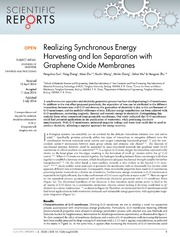 Vol 4: Realizing Synchronous Energy Harvesting and Ion Separation with Graphene Oxide Membranes.