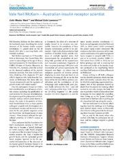 Vol 5: Vale Neil McKern - Australian Insulin Receptor Scientist.
