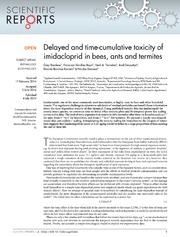 Vol 4: Delayed and time-cumulative toxicity of imidacloprid in bees, ants and termites.