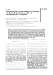 Vol 26: Transcranial Direct Current Stimulation Combined with Treadmill Gait Training in Delayed Neuro-psychomotor Development.
