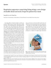 Vol 66: Respiration apparatus comprising fixing string: a new design of double head and neck straps for patient face mask.