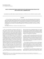 Vol 56: USE OF LOPINAVIR-RITONAVIR ASSOCIATED WITH ERGOTAMINE RESULTING IN FOOT AMPUTATION: BRIEF COMMUNICATION.