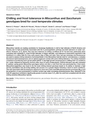 Vol 65: Chilling and frost tolerance in Miscanthus and Saccharum genotypes bred for cool temperate climates.