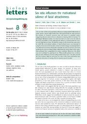 Vol 10: Sex ratio influences the motivational salience of facial attractiveness.