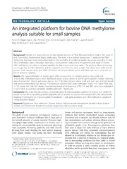 Vol 15: An integrated platform for bovine DNA methylome analysis suitable for small samples.