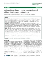 Vol 12: Aging village doctors in five counties in rural China: situation and implications.