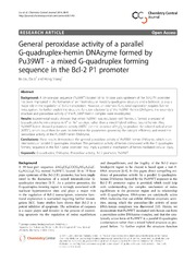 Vol 8: General peroxidase activity of a parallel G-quadruplex-hemin DNAzyme formed by Pu39WT - a mixed G-quadruplex forming sequence in the Bcl-2 P1 promoter.