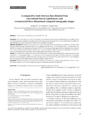 Vol 40: A comparative study between data obtained from conventional lateral cephalometry and reconstructed three-dimensional computed tomography images.
