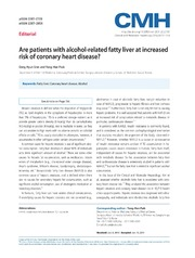 Vol 20: Are patients with alcohol-related fatty liver at increased risk of coronary heart disease
