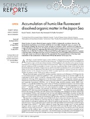 Vol 4: Accumulation of humic-like fluorescent dissolved organic matter in the Japan Sea.