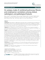 Vol 14: An autopsy study of combined pulmonary fibrosis and emphysema: correlations among clinical, radiological, and pathological features.