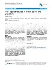 Vol 12: Fight against tobacco in Japan, before and after FCTC.