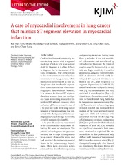 Vol 29: A case of myocardial involvement in lung cancer that mimics ST segment elevation in myocardial infarction.