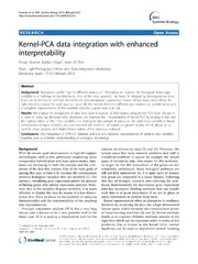 Vol 8: Kernel-PCA data integration with enhanced interpretability.