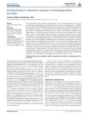Vol 5: Compulsivity in anorexia nervosa: a transdiagnostic concept.