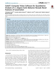 Vol 10: CeleST: Computer Vision Software for Quantitative Analysis of C. elegans Swim Behavior Reveals Novel Features of Locomotion.