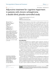 Vol 10: Adjunctive treatment for cognitive impairment in patients with chronic schizophrenia: a double-blind, placebo-controlled study.