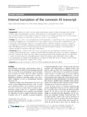 Vol 12: Internal translation of the connexin 43 transcript.
