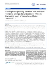 Vol 4: Transcriptome profiling identifies ABA mediated regulatory changes towards storage filling in developing seeds of castor bean Ricinus communis L..