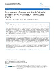 Vol 10: Development of duplex real-time PCR for the detection of WSSV and PstDV1 in cultivated shrimp.
