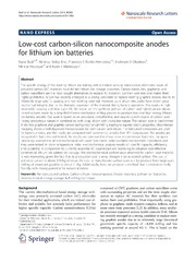 Vol 9: Low-cost carbon-silicon nanocomposite anodes for lithium ion batteries.