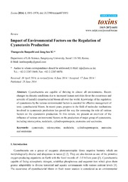Vol 6: Impact of Environmental Factors on the Regulation of Cyanotoxin Production.