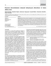 Vol 21: Prenatal desvenlafaxine induced behavioural alterations in Swiss albino mice.