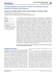 Vol 5: A bihemispheric autonomic model for traumatic stress effects on health and behavior.