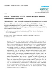 Vol 14: Precise Calibration of a GNSS Antenna Array for Adaptive Beamforming Applications.