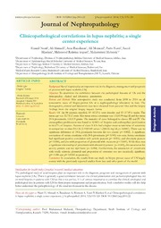 Vol 3: Clinicopathological correlations in lupus nephritis; a single center experience.