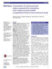 Vol 4: Association of socioeconomic status measured by education, and cardiovascular health: a population-based cross-sectional study.