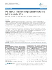 Vol 15: The BiSciCol Triplifier: bringing biodiversity data to the Semantic Web.