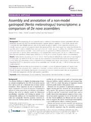 Vol 7: Assembly and annotation of a non-model gastropod (Nerita melanotragus) transcriptome: a comparison of De novo assemblers.
