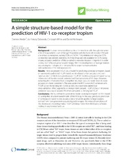 Vol 7: A simple structure-based model for the prediction of HIV-1 co-receptor tropism.