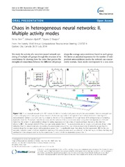 Vol 15: Chaos in heterogeneous neural networks: II. Multiple activity modes.