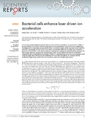 Vol 4: Bacterial cells enhance laser driven ion acceleration.