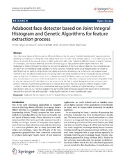 Vol 3: Adaboost face detector based on Joint Integral Histogram and Genetic Algorithms for feature extraction process.