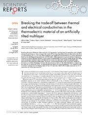 Vol 4: Breaking the trade-off between thermal and electrical conductivities in the thermoelectric material of an artificially tilted multilayer.