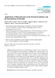 Vol 15: Applications of Biosurfactants in the Petroleum Industry and the Remediation of Oil Spills.