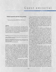 Vol 16: Patient-reported outcomes in psychiatry.