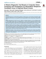 Vol 9: A Malaria Diagnostic Tool Based on Computer Vision Screening and Visualization of Plasmodium falciparum Candidate Areas in Digitized Blood Smears.