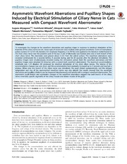 Vol 9: Asymmetric Wavefront Aberrations and Pupillary Shapes Induced by Electrical Stimulation of Ciliary Nerve in Cats Measured with Compact Wavefront Aberrometer.